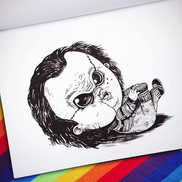 Baby terrors an adorable series re imagining famous horror