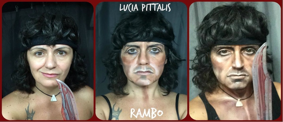 Makeup Artist Lucia Pittalis Transforms Herself To Look Like