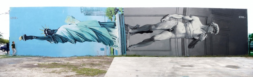 New_Mural_by_OZMO_ft_Lady_Liberty_and_Michelangelo_David_in_Miami_2014_01