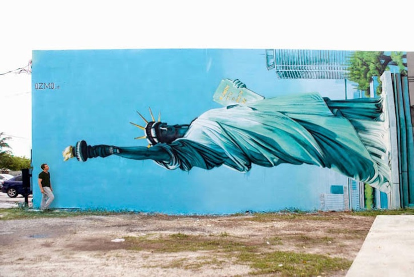 New_Mural_by_OZMO_ft_Lady_Liberty_and_Michelangelo_David_in_Miami_2014_04