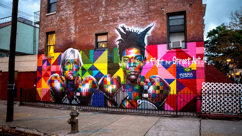 Colorful_Mural_of_Basquiat_and_Andy_Warhol_by_Eduardo_Kobra_in_Brooklyn_NYC_2014_01
