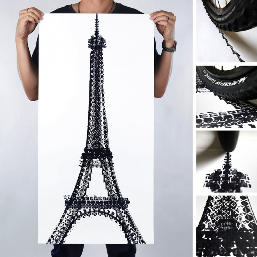 Famous_Landmarks_Printed_with_Bicycle_Tire_Tracks_by_Artist_Thomas_Yang_2014_01