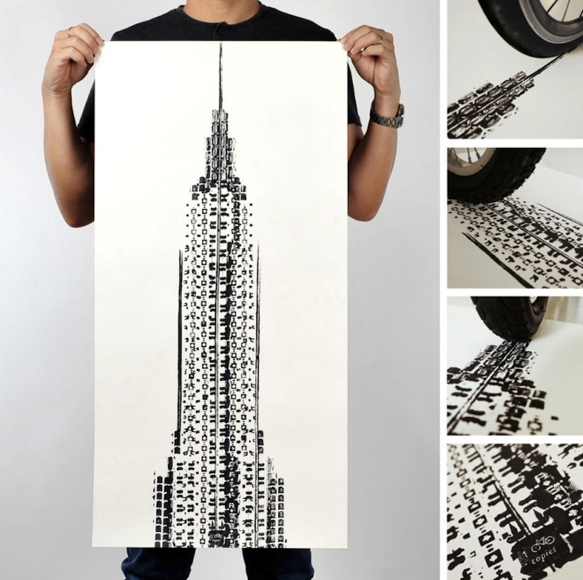 Famous_Landmarks_Printed_with_Bicycle_Tire_Tracks_by_Artist_Thomas_Yang_2014_04