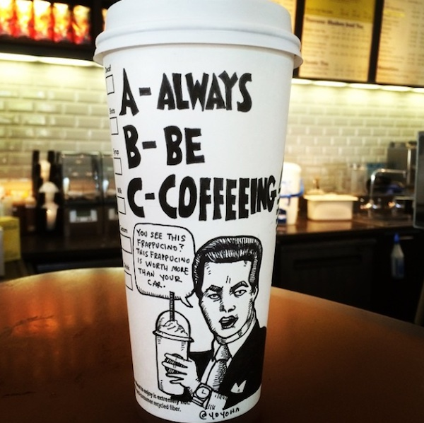 Hilariously_Twisted_Cartoons_Drawn_on_Coffee_Cups_by_Josh_Hara_2014_06