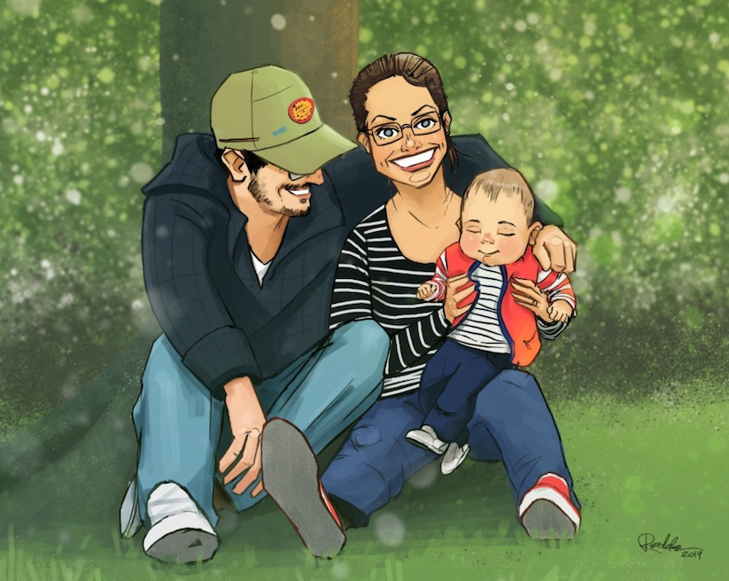 Husband_Hires_24_Artists_To_Illustrate_Portraits_Of_His_Son_To_Surprise_His_Wife_2014_01