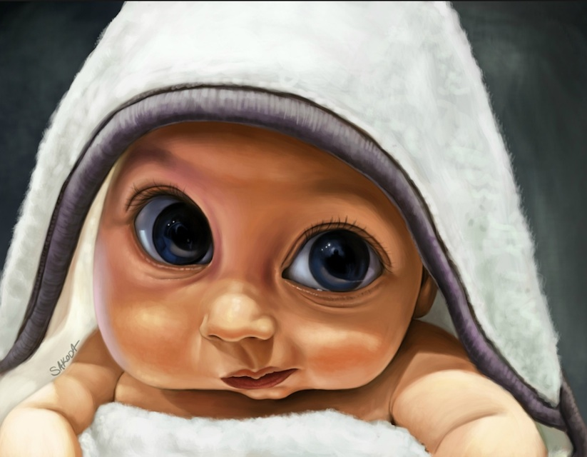 Husband_Hires_24_Artists_To_Illustrate_Portraits_Of_His_Son_To_Surprise_His_Wife_2014_04