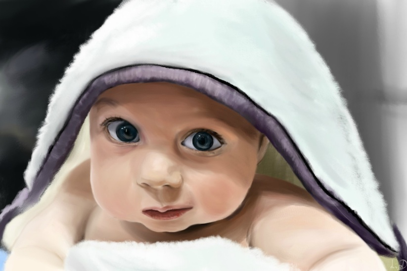 Husband_Hires_24_Artists_To_Illustrate_Portraits_Of_His_Son_To_Surprise_His_Wife_2014_05