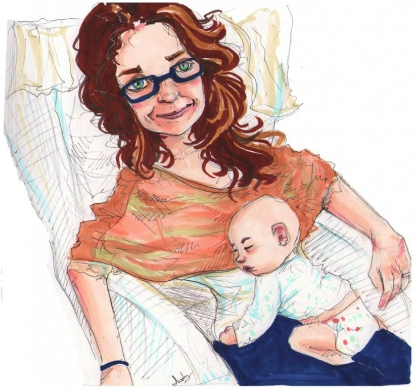 Husband_Hires_24_Artists_To_Illustrate_Portraits_Of_His_Son_To_Surprise_His_Wife_2014_07
