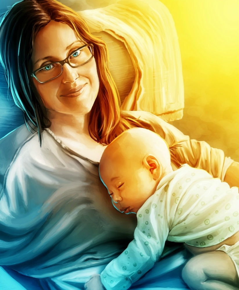 Husband_Hires_24_Artists_To_Illustrate_Portraits_Of_His_Son_To_Surprise_His_Wife_2014_08
