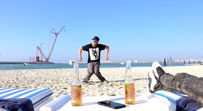 Hold_my_Beer_Marquese_Scott_Poppin_John_on_a_Beach_in_Dubai_2015_03