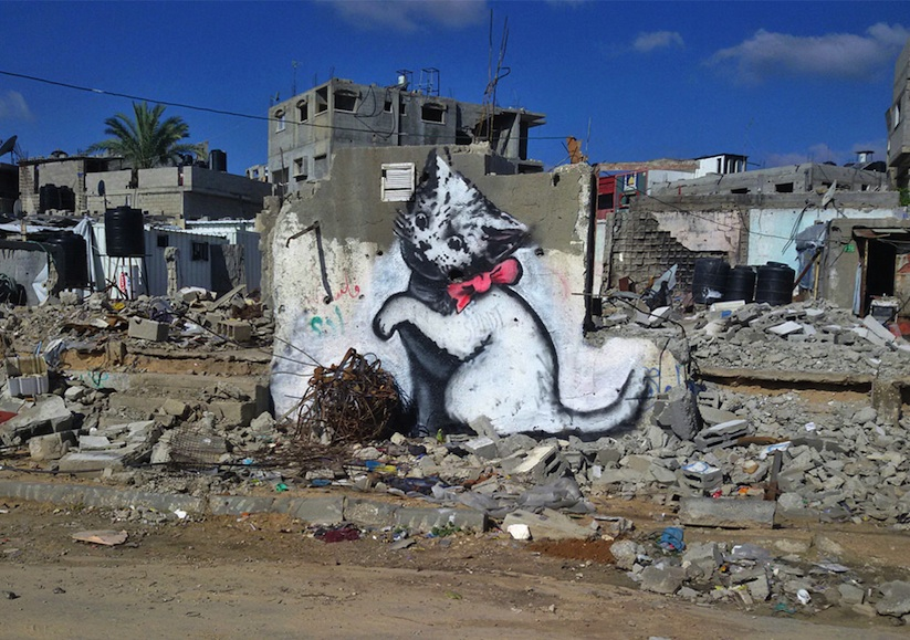New_Series_of_Pieces_by_Banksy_in_Gaza_2015_01