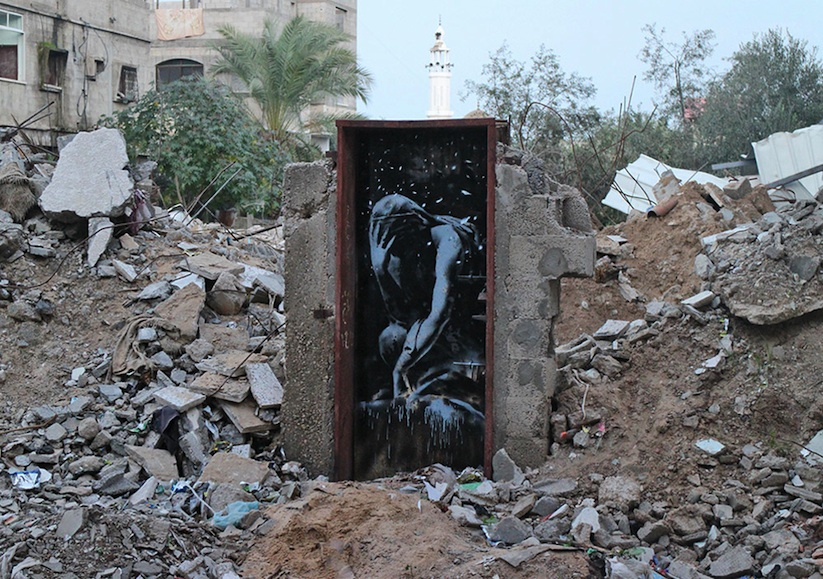 New_Series_of_Pieces_by_Banksy_in_Gaza_2015_04