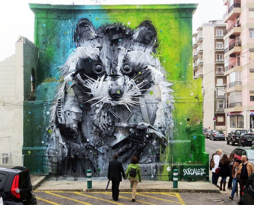 Big_Racoon_New_Street_Installation_by_Bordalo_2015_01