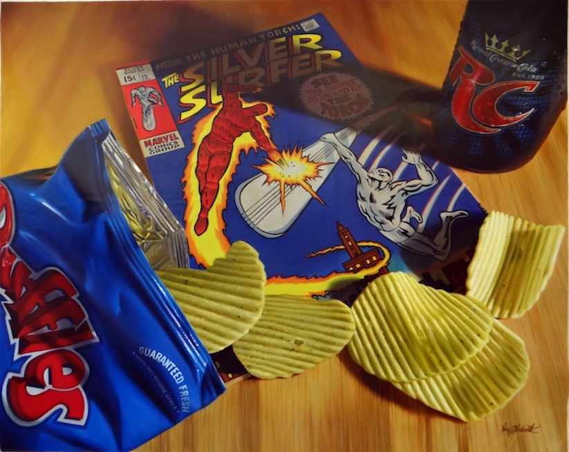 New_Hyper_Realistic_Oil_Paintings_of_Old_School_Snacks_And_Comics_by_Doug_Bloodworth_2015_03