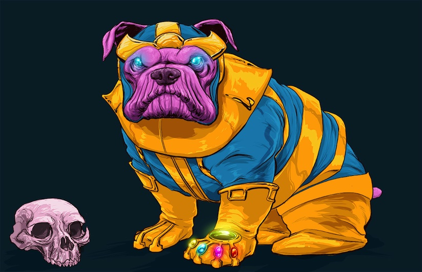 """""""Dogs of the Marvel Universe"""" by Illustrator Josh Lynch"""