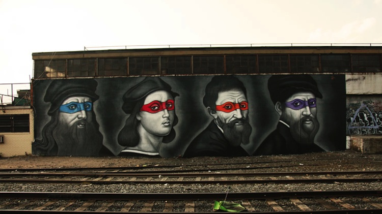 Renaissance_Masters_Painted_as_Ninjas_by_Street_Artist_Owen_Dippie_in_Bushwick_Brooklyn_2015_01