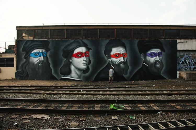 Renaissance_Masters_Painted_as_Ninjas_by_Street_Artist_Owen_Dippie_in_Bushwick_Brooklyn_2015_08