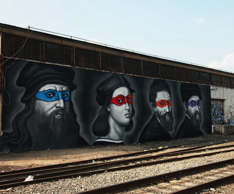 Renaissance_Masters_Painted_as_Ninjas_by_Street_Artist_Owen_Dippie_in_Bushwick_Brooklyn_2015_09