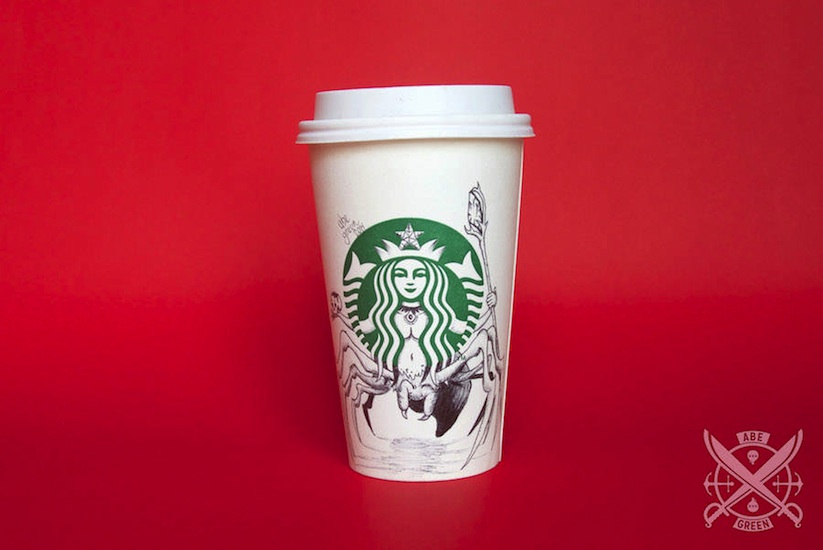 The_Secret_Life_of_the_Starbucks_Siren_by_Mexican_Illustrator_Abe_Green_2015_04