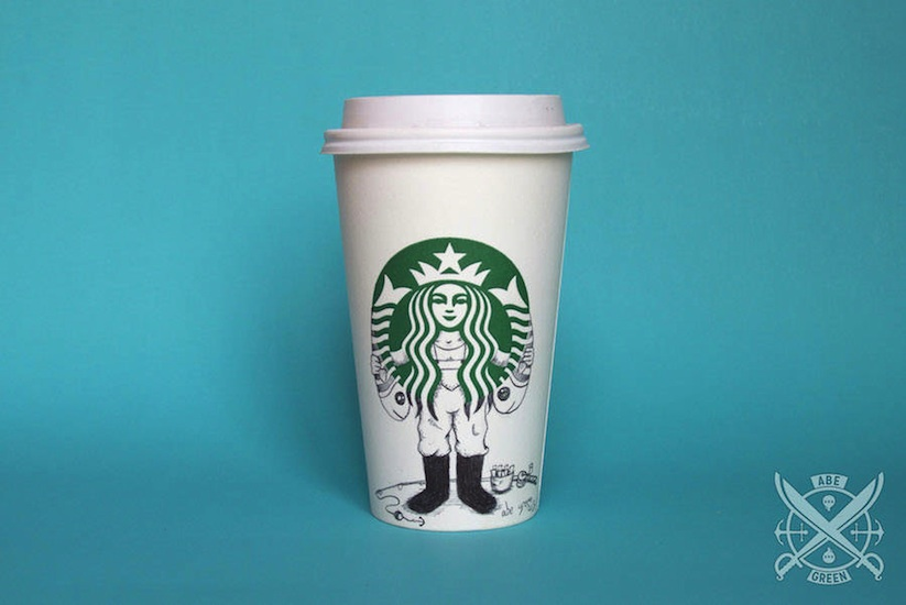 The_Secret_Life_of_the_Starbucks_Siren_by_Mexican_Illustrator_Abe_Green_2015_07