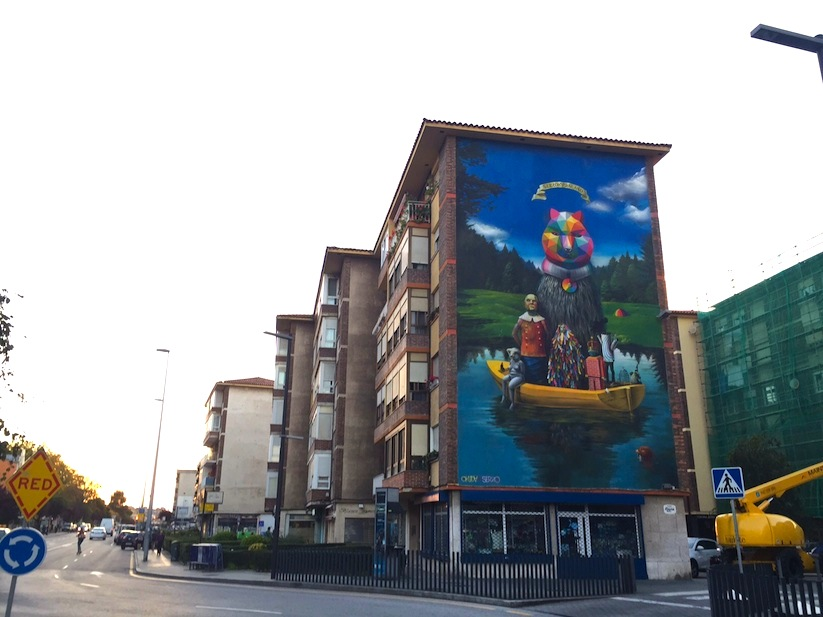 Okuda_Serzo_Collaborate_on_a_Large_Mural_in_Santander_Spain_2015_09