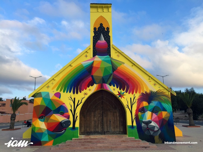 11_Mirages_to_the_Freedom_Spanish_Street_Artist_Okuda_Painted_a_Church_in_Youssoufia_Morocco_2016_01