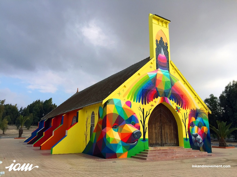 11_Mirages_to_the_Freedom_Spanish_Street_Artist_Okuda_Painted_a_Church_in_Youssoufia_Morocco_2016_02