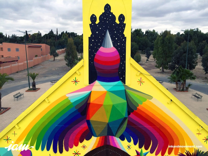 11_Mirages_to_the_Freedom_Spanish_Street_Artist_Okuda_Painted_a_Church_in_Youssoufia_Morocco_2016_03