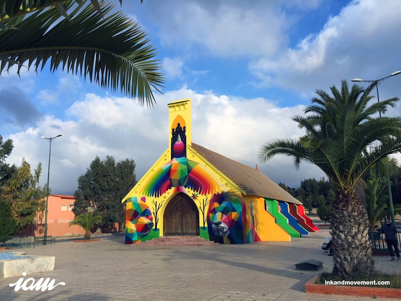 11_Mirages_to_the_Freedom_Spanish_Street_Artist_Okuda_Painted_a_Church_in_Youssoufia_Morocco_2016_05