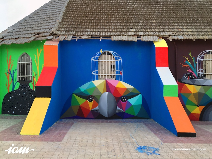 11_Mirages_to_the_Freedom_Spanish_Street_Artist_Okuda_Painted_a_Church_in_Youssoufia_Morocco_2016_07