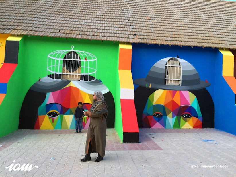 11_Mirages_to_the_Freedom_Spanish_Street_Artist_Okuda_Painted_a_Church_in_Youssoufia_Morocco_2016_09