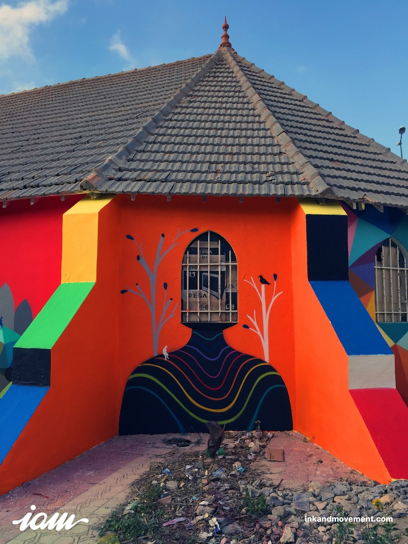 11_Mirages_to_the_Freedom_Spanish_Street_Artist_Okuda_Painted_a_Church_in_Youssoufia_Morocco_2016_11