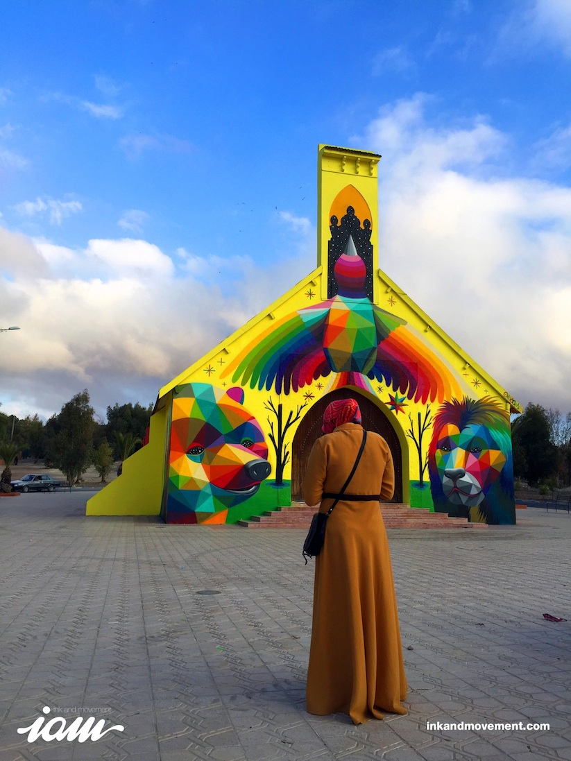 11_Mirages_to_the_Freedom_Spanish_Street_Artist_Okuda_Painted_a_Church_in_Youssoufia_Morocco_2016_12