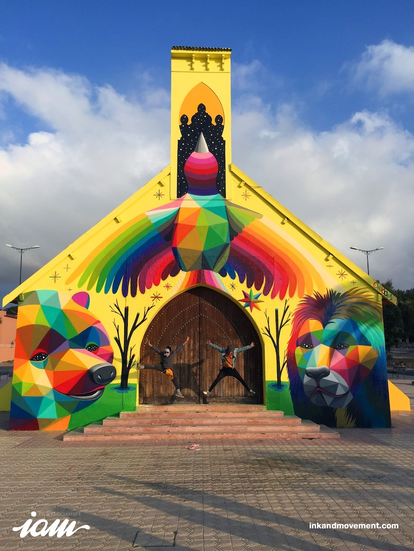 11_Mirages_to_the_Freedom_Spanish_Street_Artist_Okuda_Painted_a_Church_in_Youssoufia_Morocco_2016_13