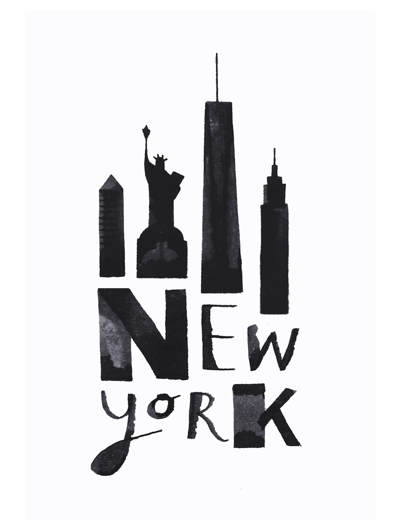 """""""calligraphy cities"""" great black white drawings of"""
