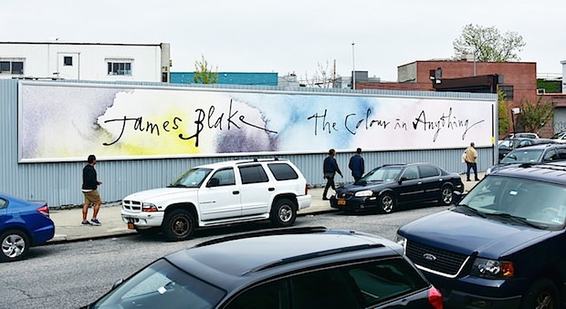 James Blake The Colour In Anything Mural WHUDAT