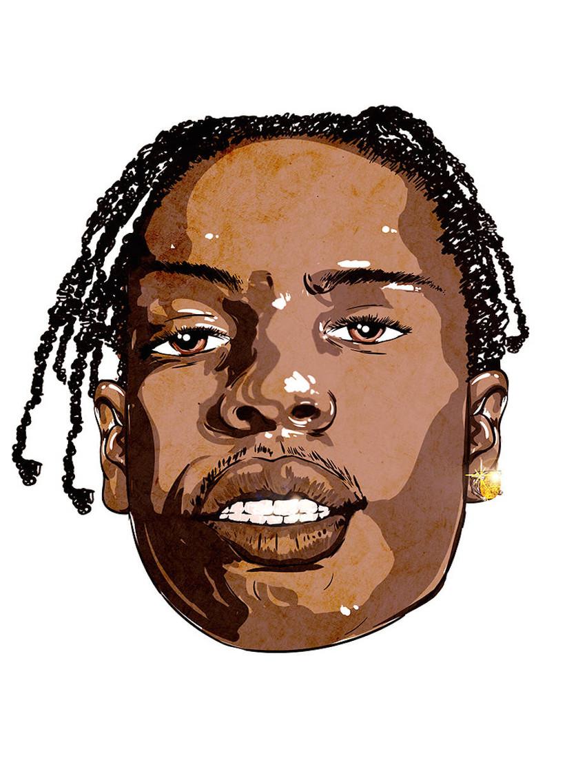 A$AP Rocky mit seinen Dreadlocks