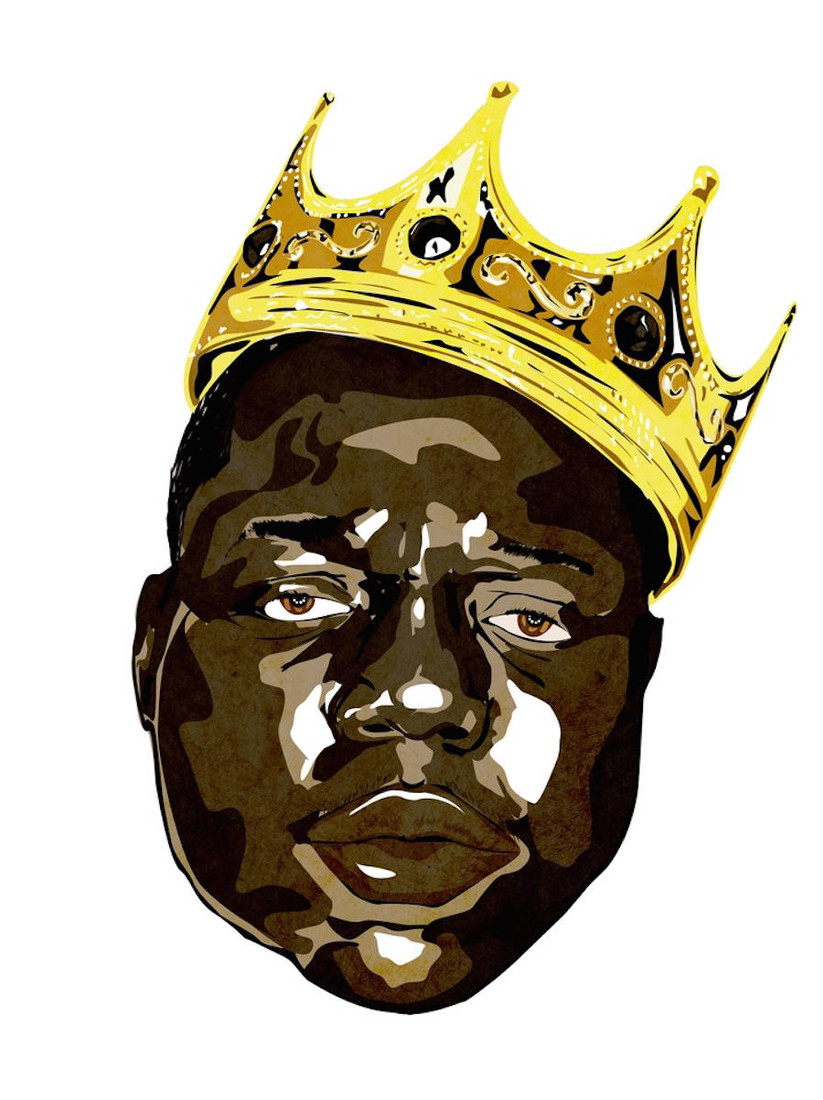 Biggie mit seiner Krone