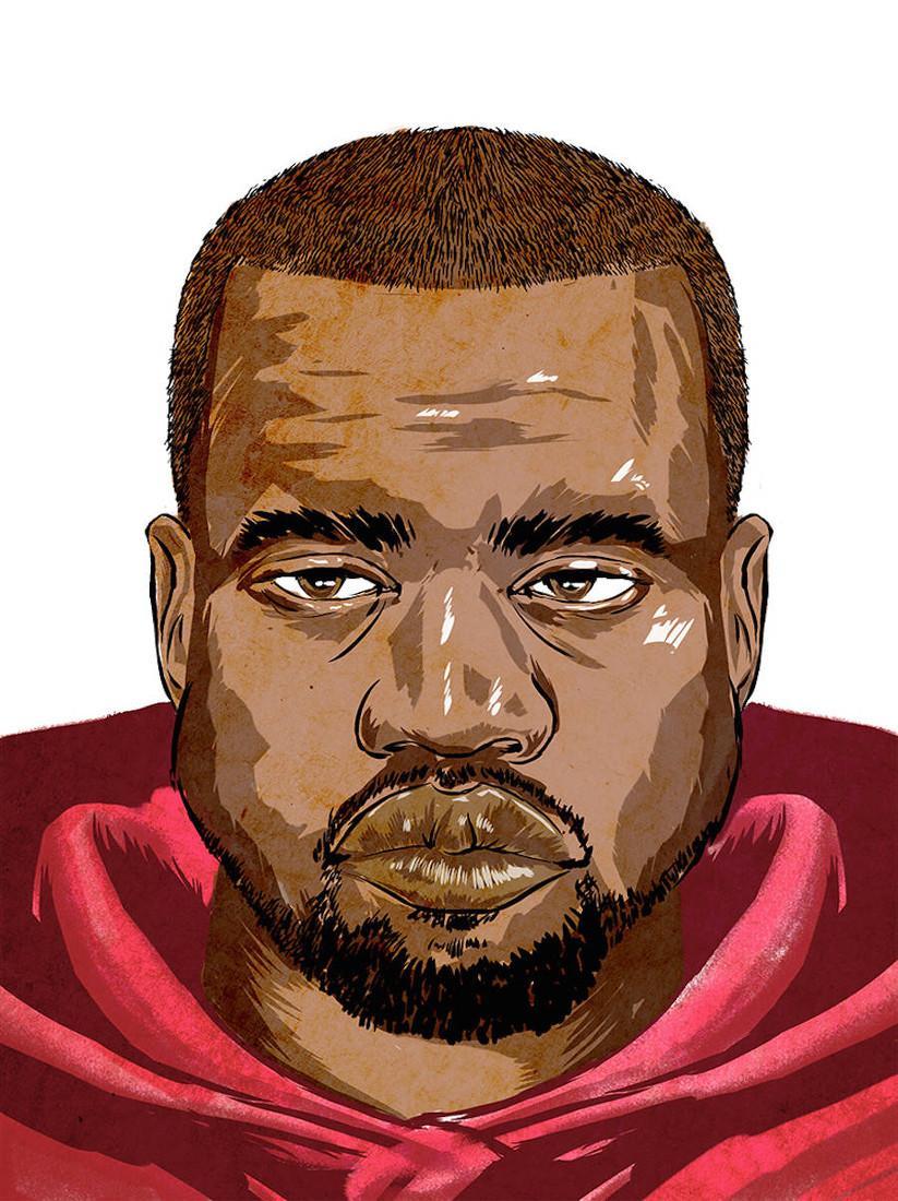 Kanye west Head WHUDAT