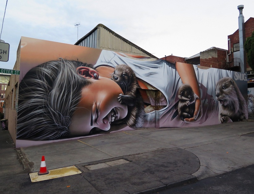 Otters_Awesome_Mural_by_Street_Artist_Smug_One_in_Melbourne_Australia_2016_01