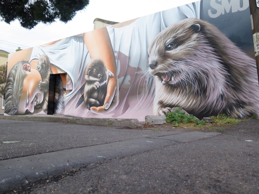 Otters Another Awesome Mural By Street Artist Smug One
