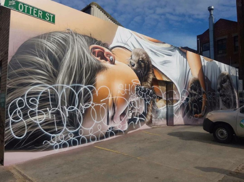 Otters_Awesome_Mural_by_Street_Artist_Smug_One_in_Melbourne_Australia_2016_06