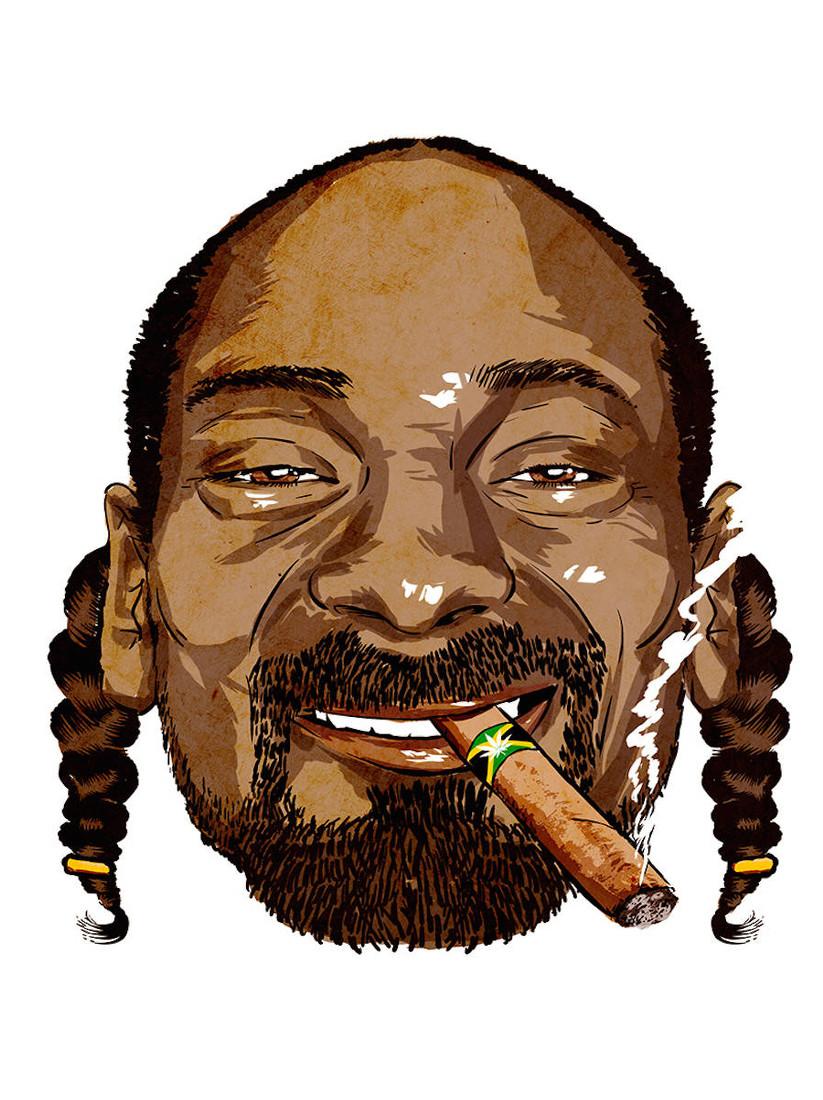 Snoop Dogg mit einem Blunt im Mund
