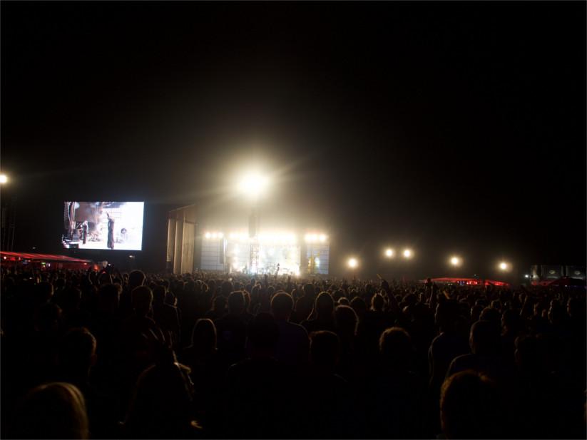 Der Auftritt der Fantastischen Vier lockte wirklich jeden Festivalbesucher aus seinem Zelt.