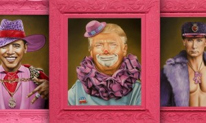 Pink_Humorous_Portraits_of_Famous_Politicians_and_Movie_Charcters_by_Scott_Scheidly_2016_header