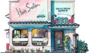 Tokyo_Storefront_Illustrations_of_Old_Tokyo_Shopfronts_by_Mateusz_Urbanowicz_2016_header