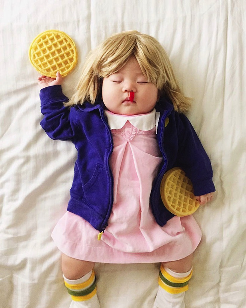 Cute_Little_Baby_is_the_Queen_Of_Dress_Up_While_She_Naps_2016_03