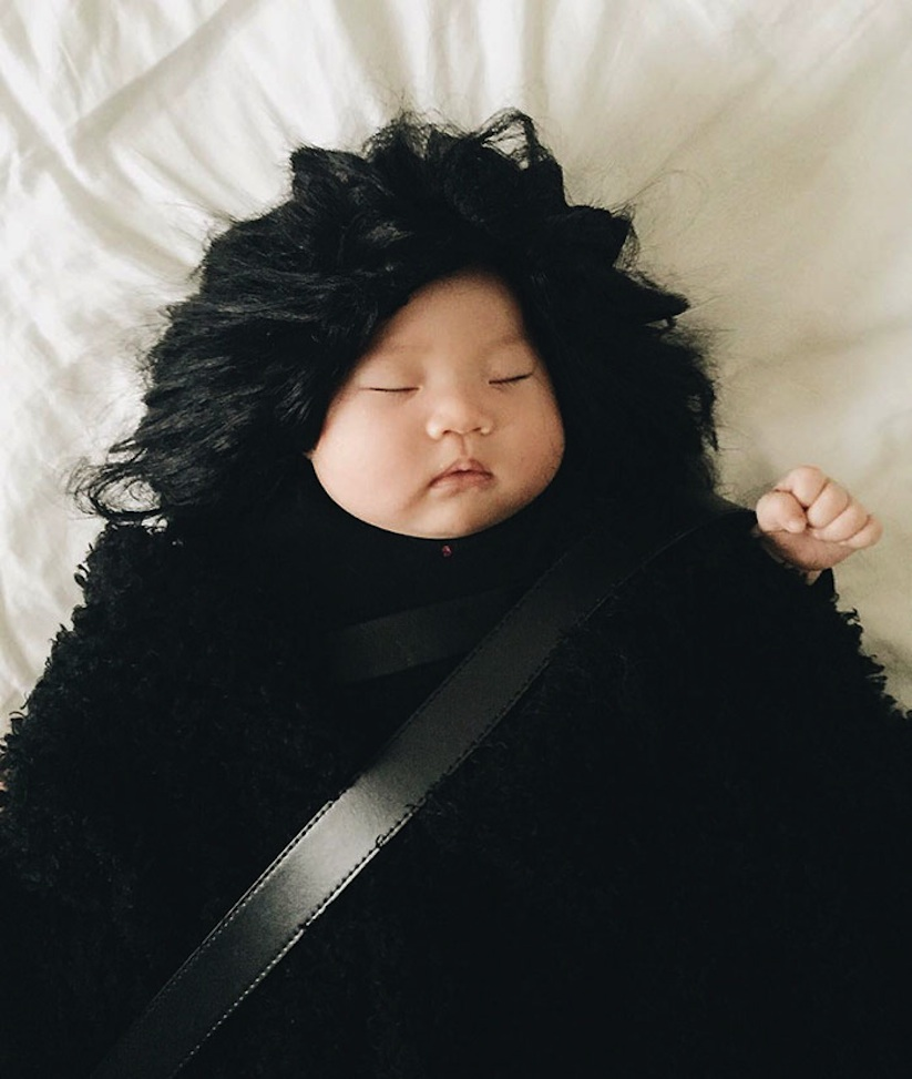 Cute_Little_Baby_is_the_Queen_Of_Dress_Up_While_She_Naps_2016_05