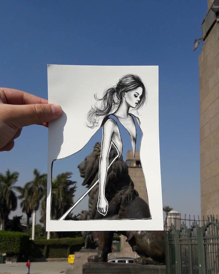 Fashion Landscapes New Illustrated Fashion Cut Outs