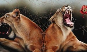 awesome_cryptic_storytelling_animal_paintings_by_josie_morway_2016_header